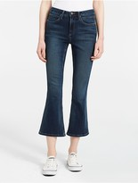 Calvin Klein Sculpted Chambray Cropped Skinny Jeans