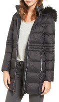 French Connection Women's Faux Fur Trim Down Coat