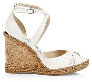 Jimmy Choo Women's Alanah Criss-Cross Peep Toe Platform Wedge Sandals