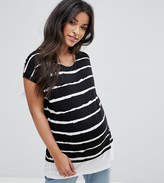 Asos NURSING T-Shirt With Double Layer in Painted Stripe