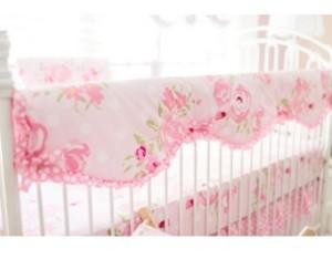 My Baby Sam Rosebud Lane Crib Rail Cover Bedding