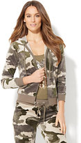 New York & Co. Lounge - Velour Hoodie Jacket - Camouflage Print