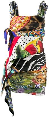 Dolce & Gabbana Multi-Print Mini Dress