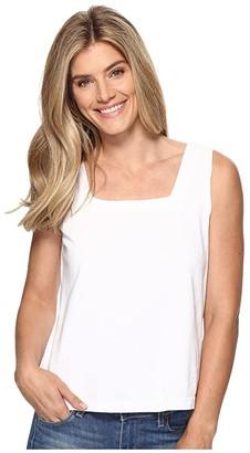 Fresh Produce Boxy Tank Top (White) Women's Sleeveless