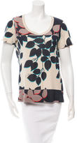 Tory Burch Short Sleeve Printed T-Shirt