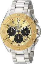 Invicta Men's 'Speedway' Quartz and Stainless Steel Casual Watch, Color:Silver-Toned (Model: 22398)