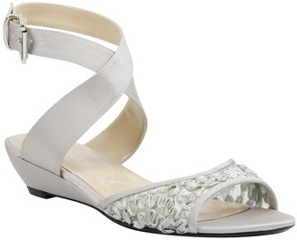 J. Renee Belden Silver Wedge Sandal - Wide Width Available