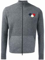 Moncler logo plaque knit cardigan - men - Polyamide/Spandex/Elastane/Virgin Wool - XXL
