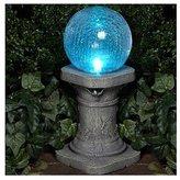 Smart Solar 3560MRM1 Chameleon Crackled Glass Solar Gazing Ball