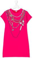 Little Marc Jacobs necklaces print dress - kids - Cotton/Spandex/Elastane/Viscose - 14 yrs
