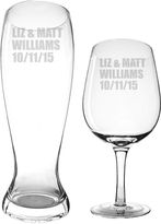 Cathy's Concepts CATHYS CONCEPTS Personalized XL Wine Glass and Pilsner Glass Set