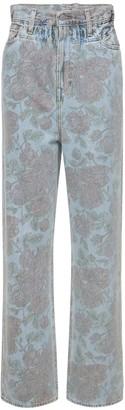 Ganni Levi's Printed Light Indigo Denim Jeans
