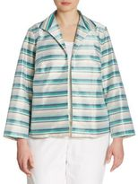 Lafayette 148 New York, Plus Size Bellene Striped Jacket