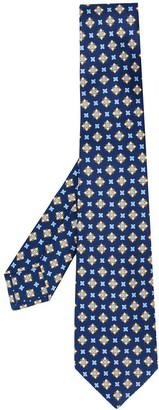 Kiton Geometric Embroidered Tie