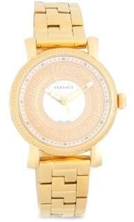 Versace Stainless Steel Three-Link Chain Bracelet Watch