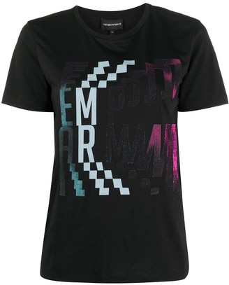 Emporio Armani graphic-print round neck T-shirt