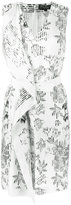 Salvatore Ferragamo striped floral print dress - women - Silk - 40