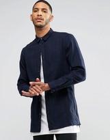 Religion Blaze Long Sleeved Longline Checked Shirt