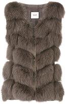 Max & Moi sleeveless fur vest