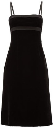 Brock Collection Empire-waist Velvet Dress - Womens - Black