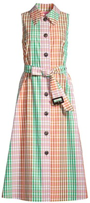 Kate Spade Multicolor Plaid-Print Shirtdress