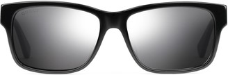 Gucci Specialized fit rectangular-frame acetate sunglasses