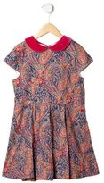 Oscar de la Renta Girls' Paisley Print Dress