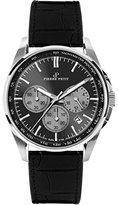 Pierre Petit Men's P-786A Serie Le Mans Black Dial Chronograph Tachymeter Leather Watch