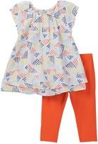 Splendid Geo Dot Print Top & Leggings Set (Toddler Girls)