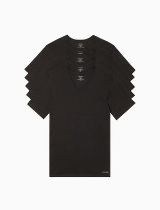 Calvin Klein Cotton Classic Slim Fit 5-Pack V-Neck T-Shirt