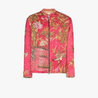 By Walid One of a Kind floral silk jacket