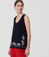 LOFT Floral Embroidered Tank