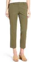 Halogen Slim Stretch Cotton Blend Ankle Pants (Petite)