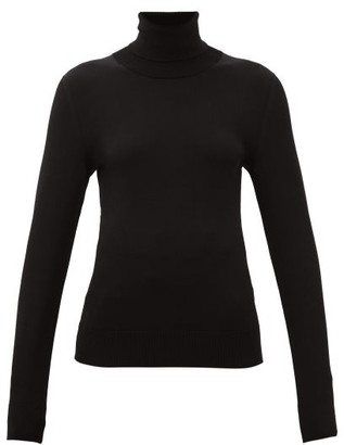 Dolce & Gabbana Roll-neck Jersey Sweater - Black