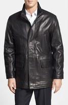 Cole Haan Men's Lambskin Leather Car Coat