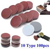 Electric Part Shop 100pcs 2 Inch 50mm Sander Disc 80 to 3000 Grit Sanding Polishing Pad