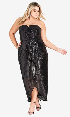 City Chic Sequin Siren Maxi Dress