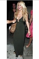 Michelle Jonas Open Back Keyhole Dress in Black