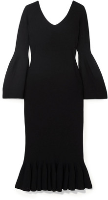 Stella McCartney Ruffled Cady Midi Dress