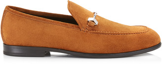 Jimmy Choo MARTI Tan Velvet Suede Loafers
