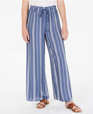 American Rag Juniors' Printed Wide-Leg Soft Pants