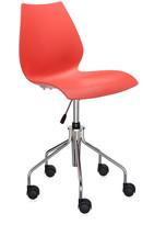 Kartell Maui Swivel Chair - Purple Red