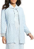 Carole Hochman 3D Diamond-Quilted Zip Robe