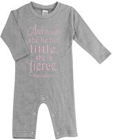 Urban Smalls Light Gray 'Little but she is Fierce' Playsuit - Infant