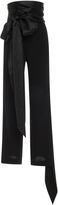J.W.Anderson Bow-Embellished High-Rise Silk Pants
