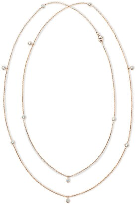 De Beers 18kt rose gold diamond Clea long necklace