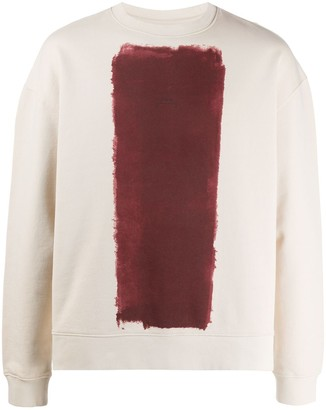 A-Cold-Wall* Crew Neck Painted Print Sweatshirt