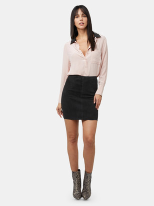 As By Df Breve Stretch Suede Skirt
