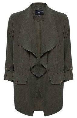 Dorothy Perkins Womens Khaki Waterfall Jacket, Khaki