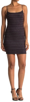 Lush Metallic Stripe Bodycon Mini Dress